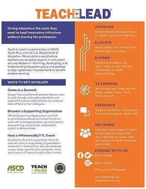 Teach to Lead Initiative Information Sheet