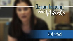Classroom Instruction That Works DVD: High School