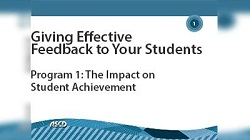 Giving Effective Feedback to Your Students: The Impact on Student Achievement