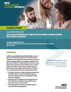 ASCD Activate Provides Self-Directed Professional Learning Aligned with District Initiatives