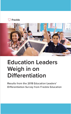 Education Leaders' Differentiation Survey from Freckle