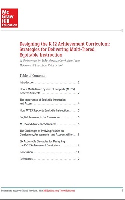 McGraw-Hill Download: Designing the K–12 Achievement Curriculum: Strategies for Delivering Multi-Tiered, Equitable Instruction