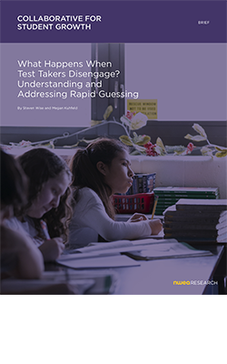 What Happens When Test Takers Disengage? whitepaper download