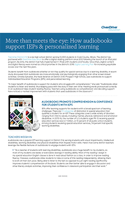 OverDrive Download: More Than Meets The Eye: How Audiobooks Support IEPs & Personalized Learning