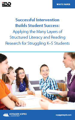 Successful Intervention Builds Student Success: Applying the Many Layers of Structured Literacy and Reading Research for Struggling K–5 Students whitepaper download