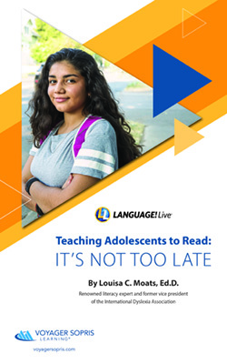 Teaching Adolescents to Read: It's Not Too Late