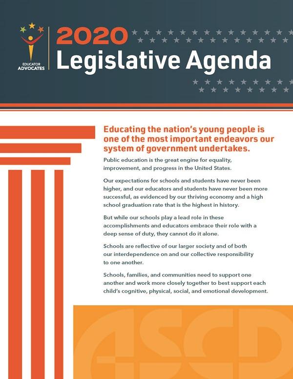 Download the 2019 ASCD Legislative Agenda