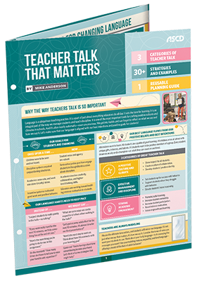 Teacher Talk That Matters - ASCD Quick Reference Guide
