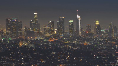 Los Angeles from the Griffith Observatory, photo by Chirpell, obtained from Flickr. CC BY-SA 2.0.