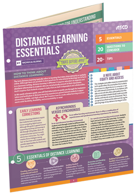 Distance Learning Essentials by Monica Burns, an ASCD Quick Reference Guide
