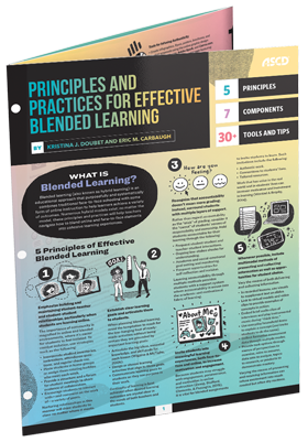 Principles and Practices for Effective Blended Learning by Kristina J. Doubet and Eric M. Carbaugh, an ASCD Quick Reference Guide